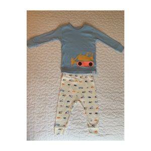 NWT baby boy tractor pajama set.